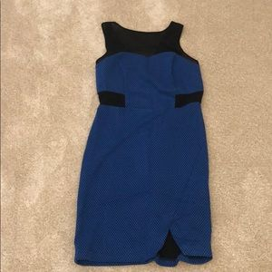 Blue dress with mesh straps